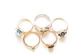 sapphires, emeralds, topaz, garnets, enamel