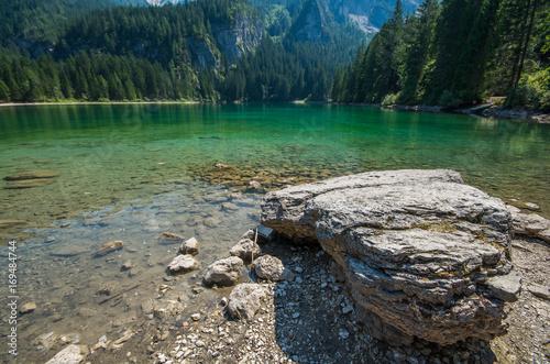 Fotobehang Grijs Lago di Tovel