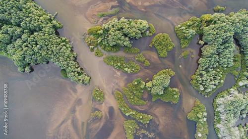 Papiers peints Taupe Aerial landscape