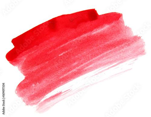 Red watercolor brush ink - 169497504