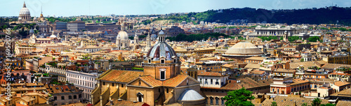 Poster Cityscape .Great Rome. panoramic view of downtown. Italy