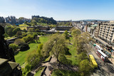 A view looking west along Princes Street from the Scott Monument towards Edinburgh Castle and the National Gallery. - 169529343