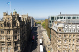 A view looking north (along David Street) from the Scott Monument, Princes Street, Edinburgh, Scotland. - 169529538
