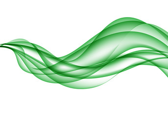 Abstract green wave on white design modern background vector illustration.