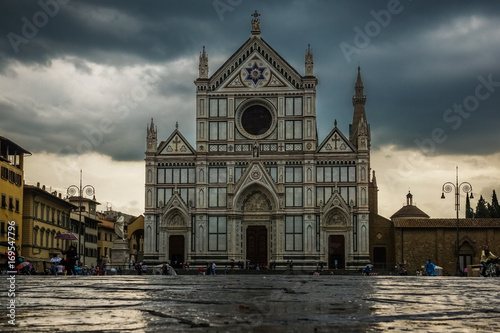 Fotobehang Florence Basilica di Santa Croce in Florence, Italy