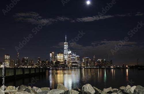 New Yorks Night Lights Poster