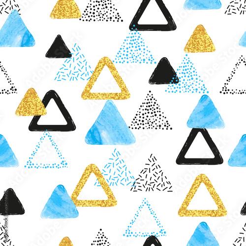 bezszwowy-wzor-z-blekitnymi-czarnymi-i-zlotymi-trojbokami-wektorowy-abstrakcjonistyczny-tlo-z-geometrycznymi-ksztaltami