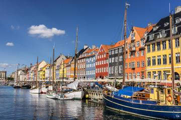 Nyhavn in central Copenhagen Denmark