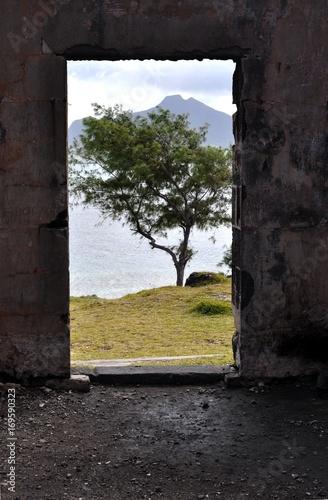 Foto op Canvas Grijze traf. Ile au Phare, Ile Maurice