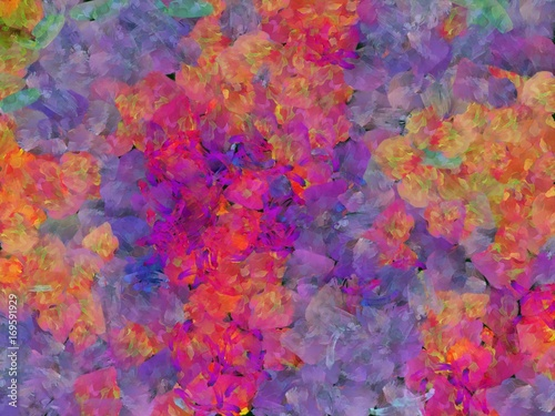 Abstract colorful watercolor for background. Digital art painting. - 169591929