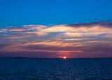 Beautiful sunset on the White sea.