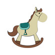 rocking wooden horse toy icon image vector illustration design