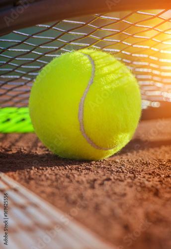 Aluminium Tennis tennis ball on a tennis court