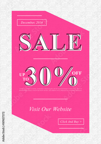 Vector Sale banner for online stores, websites, retail posters, social media ads. Creative banner layout for m-commerce, mobile applications, e-mail promotions, advertising.
