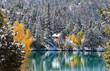 Scenic lake in Colorado Rocky mountains