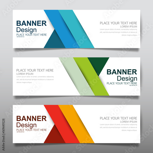 Collection horizontal business banner set vector templates clean collection horizontal business banner set vector templates clean modern geometric abstract background layout for website flashek Choice Image