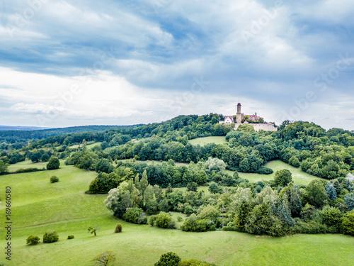 Fotobehang Pistache Aerial view of Altenburg castle in Bamberg, Germany