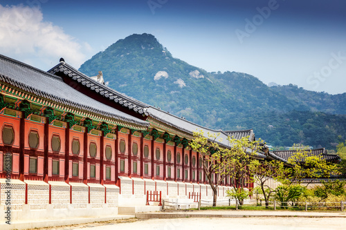 Gyeongbokgung Palace in Seoul, South Korea. Poster