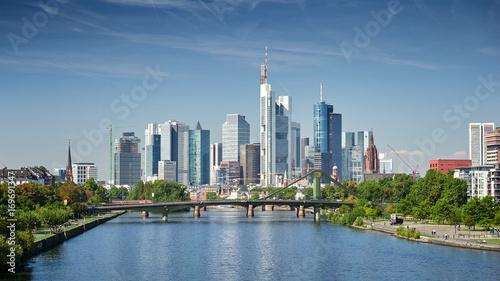 Leinwanddruck Bild Skyline Frankfurt am Main
