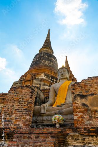 Fotobehang Thailand アユタヤ、世界遺産、ワット・ヤイチャイモンコン