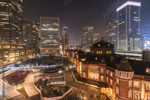 Fotobehang Tokio Illuminated Tokyo Station