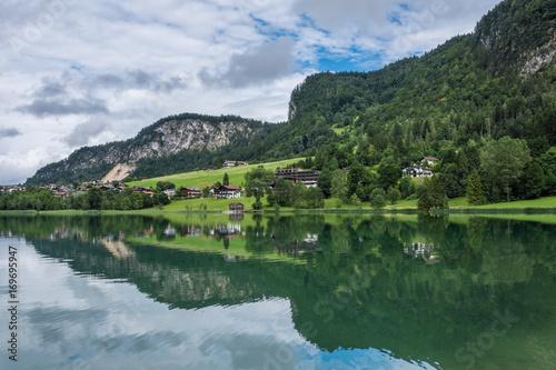 Keuken foto achterwand Olijf The mountain lake Thiersee in Tyrol, Austria
