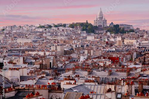 Fotobehang Parijs Paris-Vue montmartre