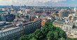 Aerial view of central London from Holborn