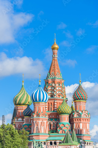 St. Basil's Cathedral at Red Square in Moscow, Russia Poster