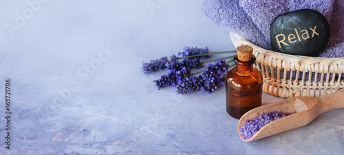 Lavender essential oil spa - 169721706