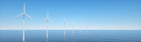 Offshore Anlage als Panorama