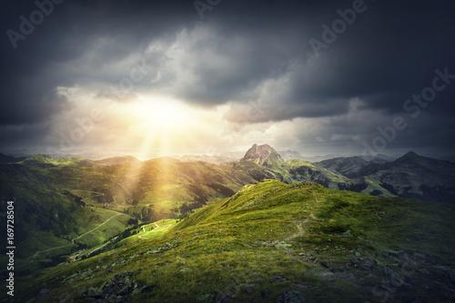 Fotobehang Natuur Magic mountain landscape