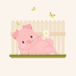Funny pig character - 169737785