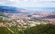 Outskirt districts in Barcelona from mount