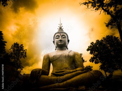 Foto op Canvas Boeddha Big Buddha and light