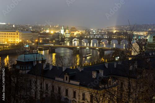 Nächtliches Prag Poster