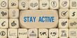 Stay Actice / Würfel mit Symbole