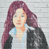 Street art. Portrait de femme grunge - 169793975