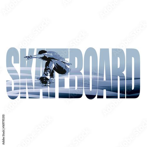 Fotobehang Skateboard Skateboard sign