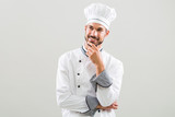 Chef is thinking what to cook. - 169797580