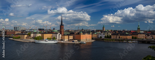 Aluminium Stockholm Stockholm. Panoramic image of Stockholm, Sweden during sunny day.