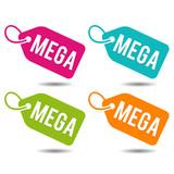 Mega price Tags. Flat Eps10 Vector Illustration. - 169812714