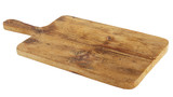 Old rectangular wooden cutting board on white - 169812752