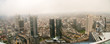 Frankfurt, Germany financial district aerial view.