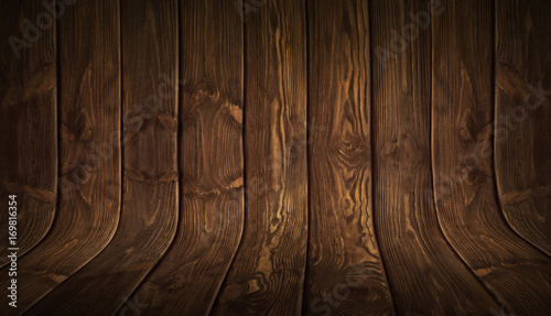Old grungy curved wooden background - 169816354