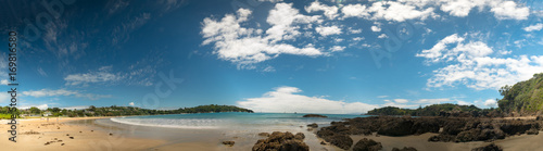 Fotobehang Tropical strand Panorama of sand beach and blue sea