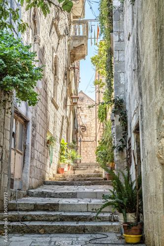 Street in old town of Croatia
