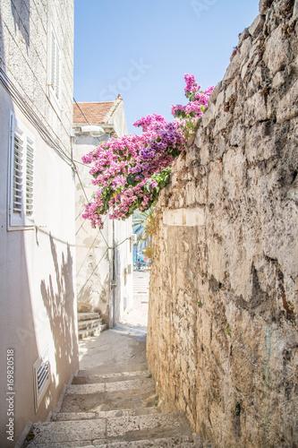 Fototapeta Old street narrow in Korcula, Croatia