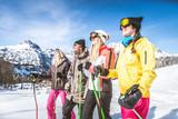 Friends on winter holidays - 169830902
