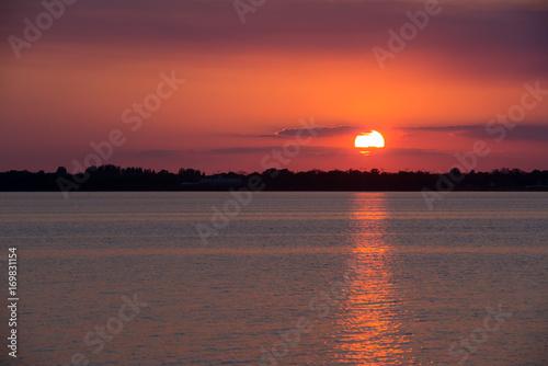 Fotobehang Zwart Florida Sunset